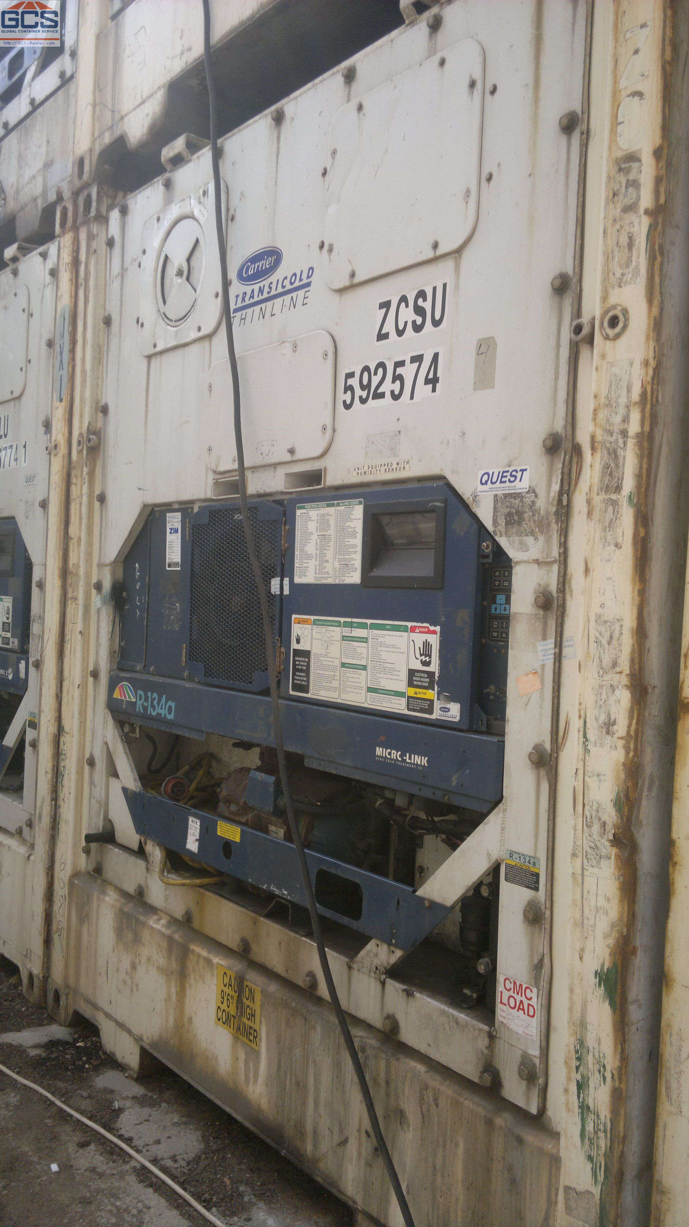 Reefer container Сarrier 40 feet | GCS - Global Container
