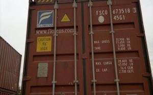 Высокий морской контейнер 40 футов с двумя дверьми